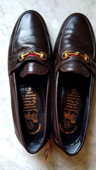 Zapatos artesanos piel estrenar t43