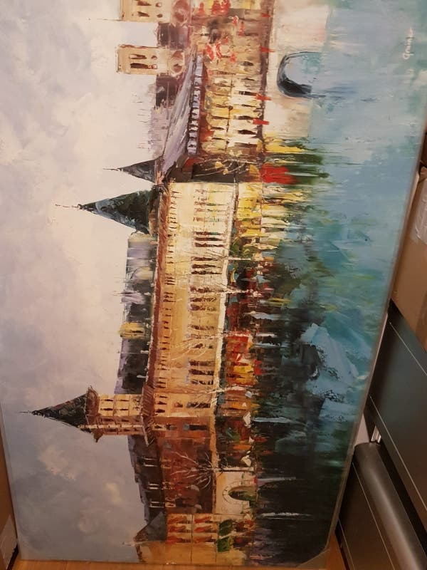 Cuadro a oleó contemporáneo de Paris