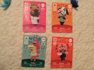 Tarjetas amiibo Nintendo animal crossing