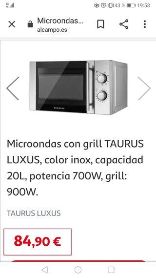 microondas grill taurus nuevo