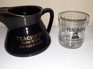 Jarra TEACHER'S Scotch Whisky + Vaso.