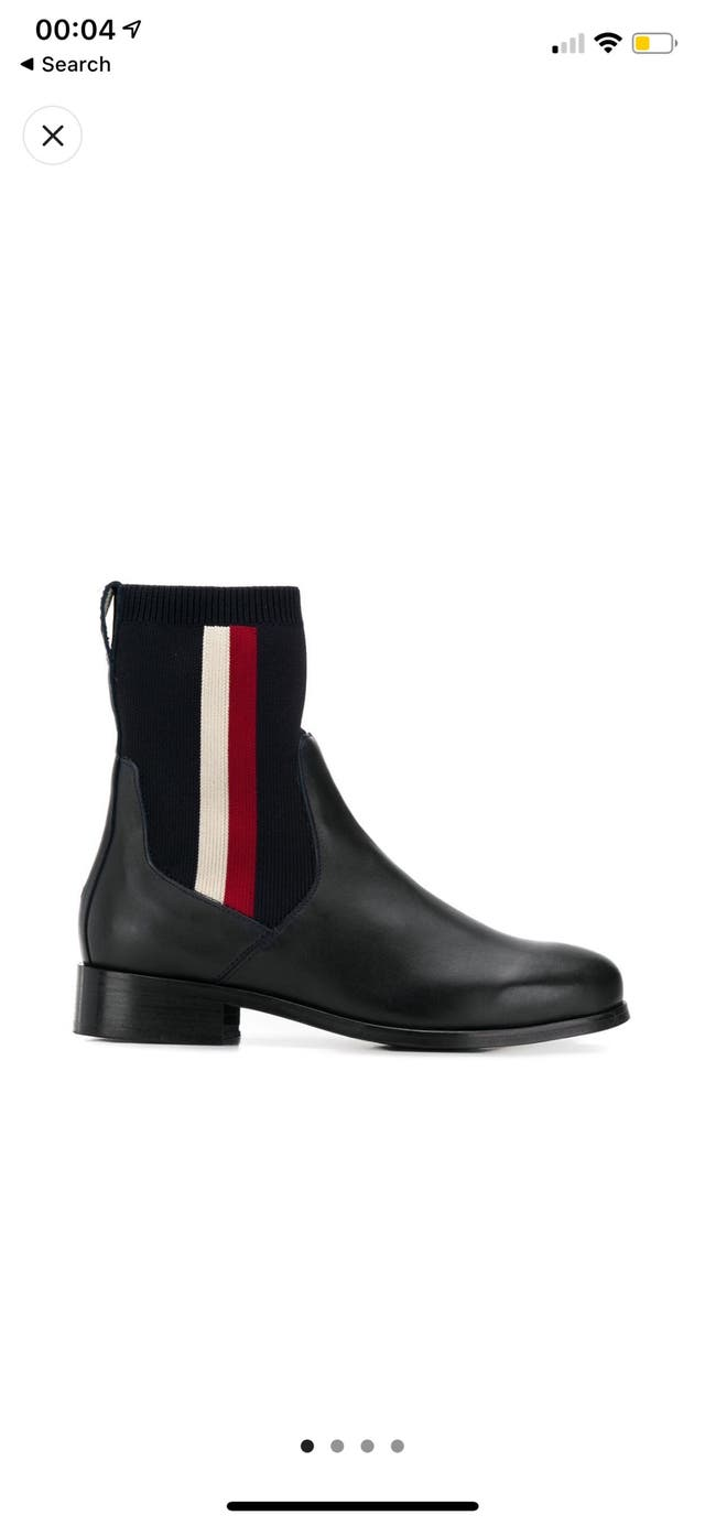Tommy Hilfiger Blue Leather Ankle Boots UK5,EU38