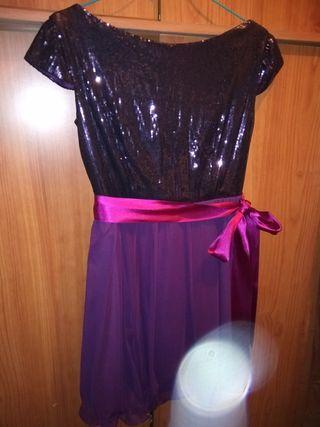 vestido de fiesta talla 42. talla pequeño