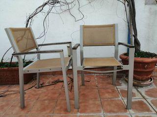 Conjunto sillas jardín