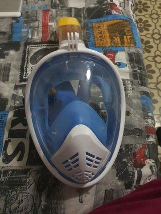 máscara de burceo