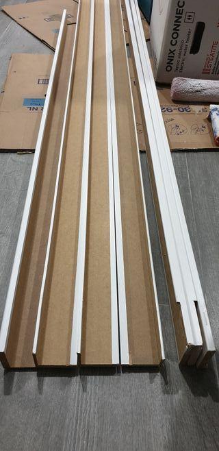 Tapetas blancas puertas lacadas