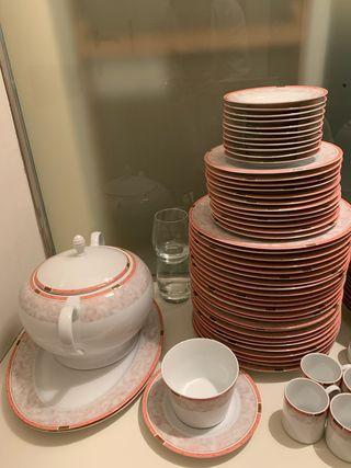 Vajilla porcelana 82 piezas