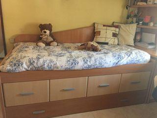 Habitación juvenil con cama nido
