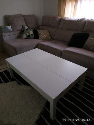 Mesa elevable blanca ikea