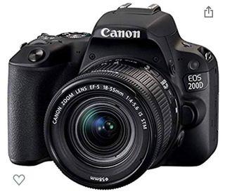 CAMARA CANON EOS200D + EQUIPO DE FOTOGRAFIA