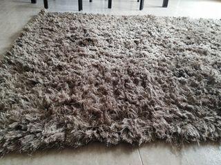 alfombra pelo largo chocolate