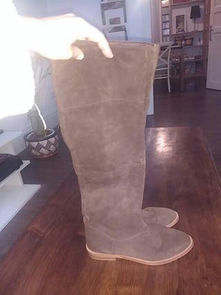 botas zara ante marrón