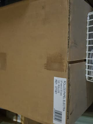 120 rollos de papel electra 37x70x12