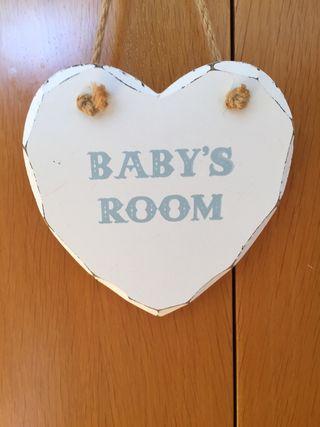 Letrero habitación Bebé