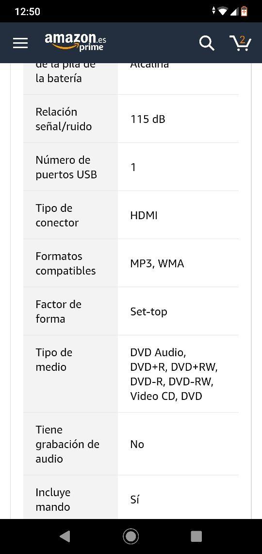 Reproductor DVD Pioneer DV-3022V