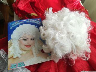 Disfraz de mujer época corto y peluca