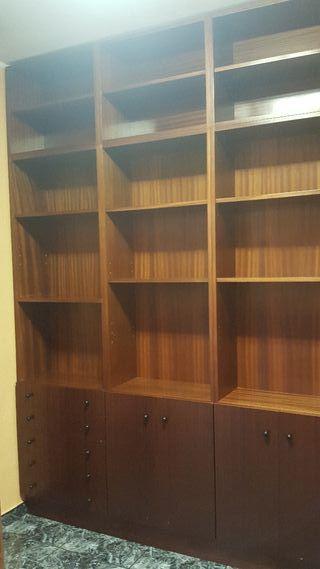 Mueble libreria de madera vintage