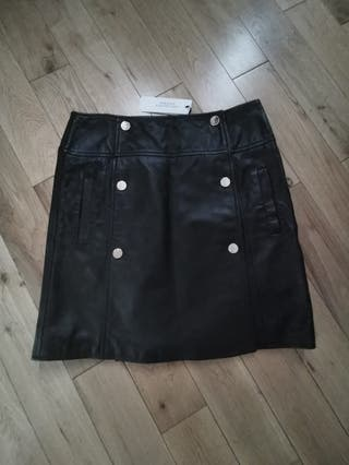 Versace Collection Leather Skirt