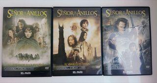 Trilogía DVD EL SEÑOR DE LOS ANILLOS + regalo