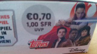 Topps-sticker 36-Star Wars-los últimos Jedi