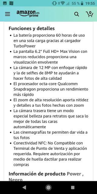 Chollo!!! móvil smartphone Motorola G7 Power