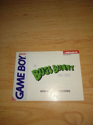 Manual Bugs Bunny Crazy Castle Game Boy