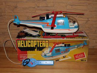 HELICOPTERO RESCATE RICO. EN SU CAJA Y FUNCIONANDO