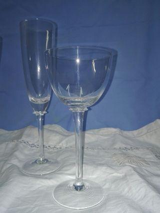 Espectacular cristalería cristal bohemia checa
