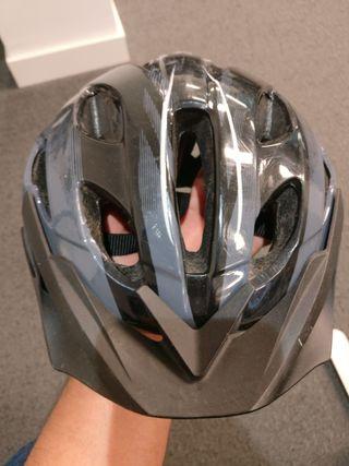 casco bicicleta BTT 100 Gris