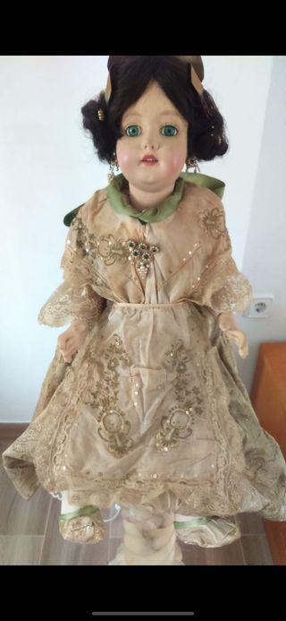 Muñeca antigua porcelana fallera