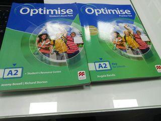 pack Libro + workbook inglés Optimise A2