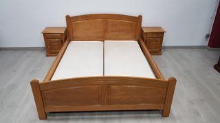 Dormitorio Rustico de Madera de Roble