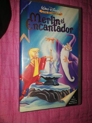 Película VHS Merlin el Encantador