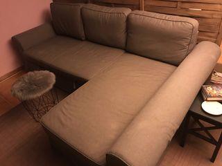 Sofá dos plazas más chaise longe