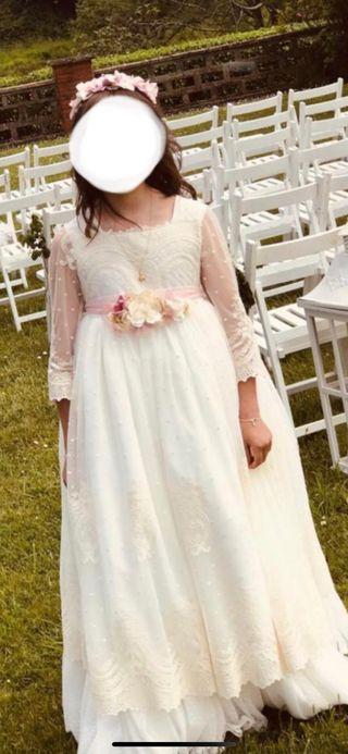 Vestido comunión pequeña angela 2019