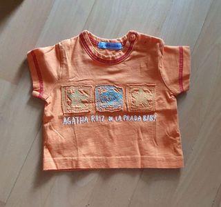 Camiseta naranja Agatha Ruiz