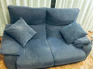 sofa dos plazas azul