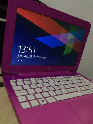 Portátil HP en buen estado rosa