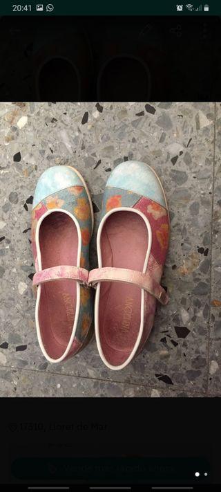 zapatos niña 36de piel