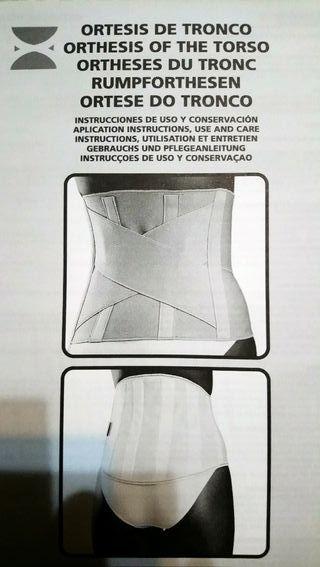 Faja sacro-lumbar de ortopedia nueva Orliman