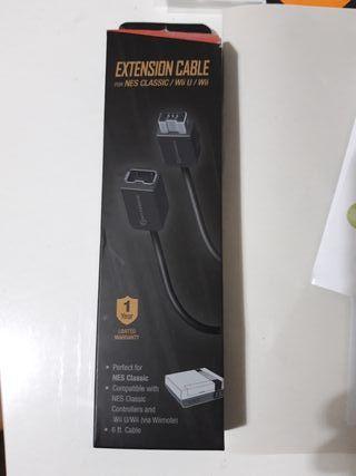 Cable alargador nintendo nes mini/wii