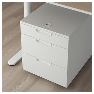 NEW IKEA GALANT Drawer unit on castors, White.