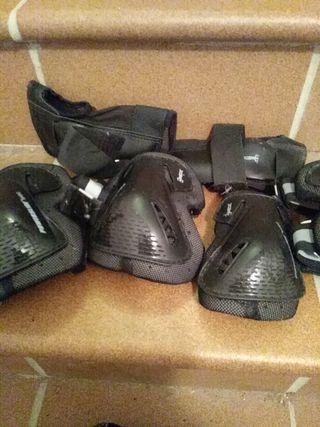 protecciones patines, monopatin