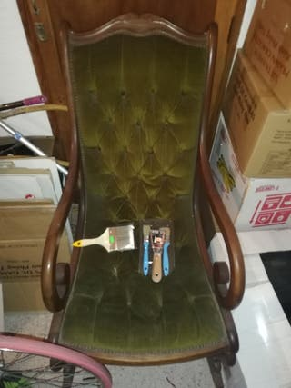 mecedora butaca silla vintage clásica antigua