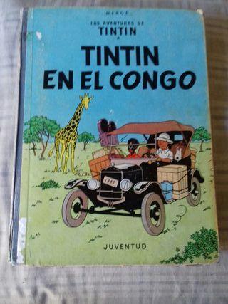 libro Tintín en el Congo antiguo