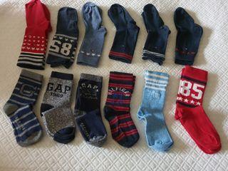 t27-30, 12 calcetines tommy hilfiger y gap