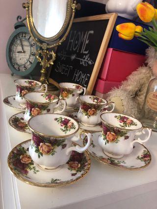 Tazas de cafe porcelana fina Royal Albert