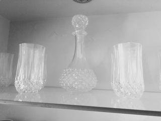 licorera y 6 vasos wisky