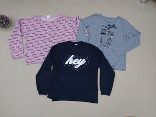 Lote de 3 suéter para niña talla 13-14 años