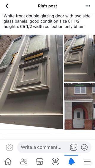 Front double glazing door